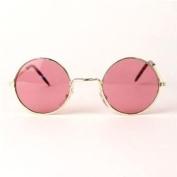 Pink John Lennon Glasses Hippie