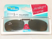 Solar Shield 56 Rec 5 Grey Polarised lens Ultra Light frame Clip On Sunglasses