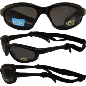 Freedom Padded Motorcycle Sunglasses By Pacific Coast Smoke Lens