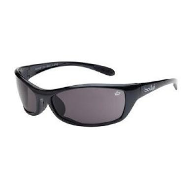 Bollé Safety 253-SR-40067 Safety Spider Eyewear with Dark Gunmetal Nylon + TPE Frame and Smoke Lens