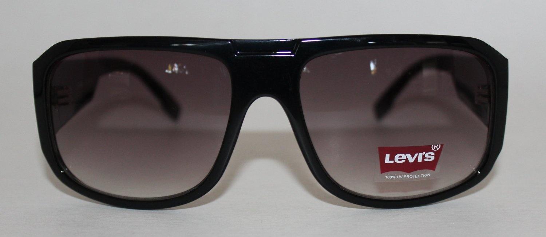 c57f937165 Levi Sunglass Black Plastic Rectangle Wrap