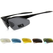 Pellor(TM) New Arrival 2 Frame + 6 Lens Outdoor Sports Polarised Sunglasses Goggle Cycling Glasses
