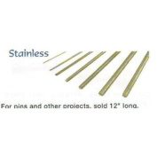 Stainless Roundstock Rod for Cutler's Pins 0.3cm x30.5cm