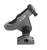 Scotty Baitcaster/Spinning Rod Holder with Side/Deck Mount Grey