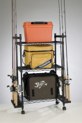 Organised Fishing Tackle Trolley Rolling Wire Rack