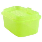 Como Clear Yellow Green Portable Fishing Bait Lure Storage Case Box