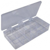 Pico 0003A 17.8cm x 3-1.9cm x 1-0.6cm Empty 9 Compartment Styrene Plastic Kit Box