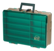 Plano Moulding Double Sided Magnum Tackle Box, Sandstone/Green