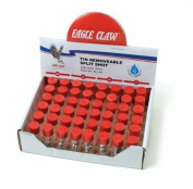 Eagle Claw Silver Removable Split Shot Value Pack, 120 Piece