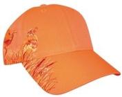 Blaze Orange Hunting Hat Quail Embroidery
