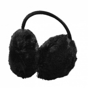 Como Lady Pure Plush Comfy Warmer Headband Back Ear Muffs Earmuffs Black
