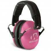 Walkers Game Ear Passive Youth/Women's Folding Muffs, 27db, Pink