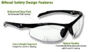 Bifocal Safety Glasses SB-9000 PS Clear, +1.00