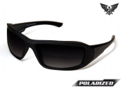 Edge Tactical Eyewear TXHG716 Hamel Matte Black with Polarised Gradient Smoke Lens