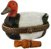 """Porcelain Hinged Box (PHB) - """"Duck Decoy with Duck Call"""" by Midwest"""