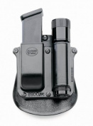 "Fobus Paddle Combo Mag Pouch/Lightr SF6900PMP Any 1"" diameter flashlight & Double Mag S & W M & P 9mm/.40 cal"