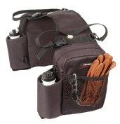 Tough-1 Nylon Water Bottle / Gear Carrier Saddle Bag Brown One Size