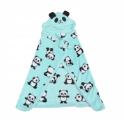 Cute Panda Poncho / Blanket - Blue