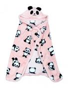 Cute Panda Poncho / Blanket - Pink