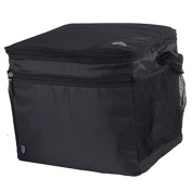 24-Can Collapsible Cooler with Cold Sensor, Black/Grey