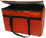 Phoenix 33cm by 60cm by 25cm Insulated delivery bags, Red