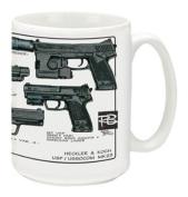 Cuppa Second Amendment Rights 440ml Coffee Mug with USP/MK23's