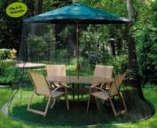 Mesh Mosquito Net Enclosure - Fits over a 9' Patio Umbrella