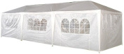 Palm Springs 10- x 9.1m White Party Tent Gazebo Canopy with Sidewalls