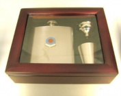 Football Club Hip Flasks-Aston Villa 'The Villains' Football Club 180ml Hip Flask Gift Set