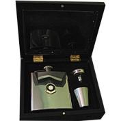 Football Club Hip Flasks-Newcastle 'The Magpies' Football Club 180ml Hip Flask Gift Set