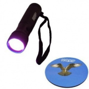 HQRP 365 nM 12 LED UV Flashlight / Blacklight for Criminal Scene Investigation and Forensic Examinations plus HQRP Coaster