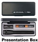 Mini Maglite Pro+ LED 2Cell AA Flashlight, Black, SP+P017