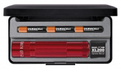 Maglite LED XL200 3Cell Flashlight - Red - In Presentation Box