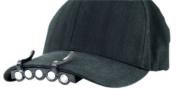 Hat Headlamp 5 LED Visor Light Black