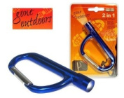 (BOYZ TOYS) Gone Outdoors 5.1cm 1 D-carabiner with LED Light