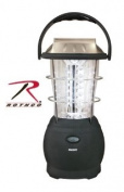 Black 36 Bulb LED Outdoor Solar Powered Handcrank Camping Lantern