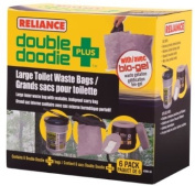 Reliance Products Double Doodie Plus Large Toilet Waste Bags