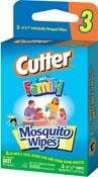 Cutter All Family 7 DEET Mosquito Wipes Convenience Pack, 3 Count