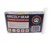 Emergency Survival Mylar Thermal Sleeping Bag (2 Pack) - Grizzly Gear - 213.4cm X 91.4cm