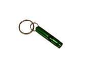 Small Green Emergency Whistle / Survival Whistle Key Chain
