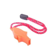 Outdoor Survival Bright Orange Dolphin Safety Whistle Emergency Whistle