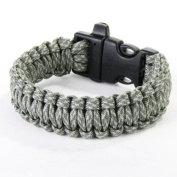 Paracord Parachute Cord Survival Bracelet with Whistle Design On the Buckle--ACU Digital Camo--Also for Daily Wearing Decoration