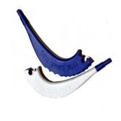 Blue & White Plastic Childrens Shofars with Whistle - 25 Pack