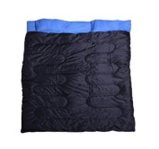 Outsunny 218.4cm x 149.9cm Two-Person Double Wide Sleeping Bag - Blue / Black