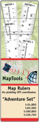 Set Of 4 UTM/Latitude Longitude Map Rulers