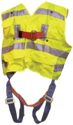 Elk River 55394 Polyester Freedom 3 D-Ring Vest Harness with Mating Buckle and Fall Indicator, Fits Medium to X-Large, Safety Green