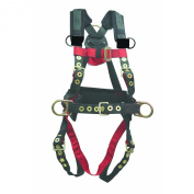 Elk River 65323 Iron Eagle Polyester/Nylon 3 D-Ring Harness with Tongue Buckles, Large