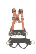 Elk River 66611 EagleTower Polyester/Nylon LE 6 D-Ring Harnesses with Quick-Connect Buckles, Small