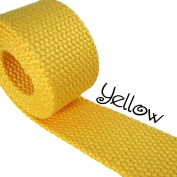 1 Yard Cotton Webbing - 3.2cm Medium Heavy Weight - Yellow