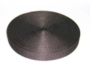 2.5cm 25 Yards Heavy Black Polypro Webbing